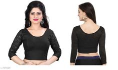 Checkout this latest Blouses Product Name: *Trendy Cotton Lycra Hosiery Blouse* Fabric: Cotton Lycra Hosiery Sleeves: 3/4 Sleeves Are Included Size: Up To 28 in To 36 in (Free Size ) Type: Stitched Description: It Has 1 Piece Of Blouse   Pattern: Solid Country of Origin: India Easy Returns Available In Case Of Any Issue   Catalog Rating: ★4.1 (2368)  Catalog Name: Free Gift Trendy Designer Women's Readymade Blouse Vol 1 CatalogID_88235 C74-SC1007 Code: 462-773524-195