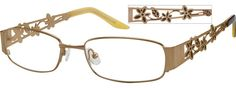 5974 Metal Full-rim Frame with Design Temples
