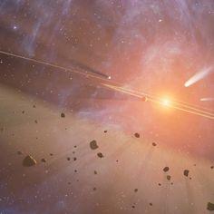 provocative-planet-pics-please.tumblr.com Asteroidengürtel Asteroiden werden manchmal Kleinplaneten genannt und genau das sind sie auch - zu klein für einen echten Planeten! Und trotzdem wurden sie zeitweise zu den Planeten gezählt. Das war im 19. Jahrhundert als die ersten Asteroiden entdeckt wurden und man noch nicht so genau wusste wie klein sie eigentlich sind. Gesucht und gefunden wurden sie zwischen den Bahnen von Mars und Jupiter. Wie kam man auf die Idee ausgerechnet dort nach…
