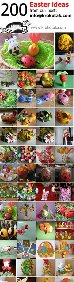 КРОКОТАК - 200 Easter ideas from our post: info@krokotak.com