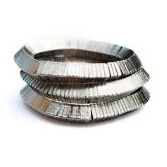 FERAH SET - Indian silver brass heishi bracelet set, also sold separately   © VELINA