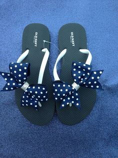 81c1c2a2f Items similar to Flip flops with small bow