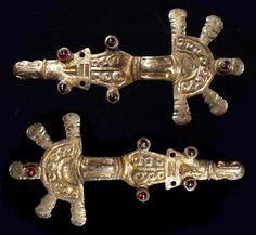 Eastern Germanic gilt silver fibulae