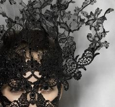Lace Mask by Famed Irish Milliner Philip Treacy for Valentino's 2009 Fall Haute Couture Collection