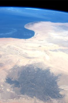 Libya and the Gulf of Sidra on the Mediterranean Sea.  KN from space.