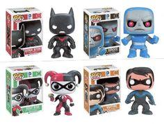 "Funko BATMAN BEYOND 3.75"" POP VINYL 4PC FIGURE SET - Batman - Nightwing - Harley Quinn - Darkseid"