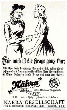 Original-Werbung/ Anzeige 1942 - NÄHRA MALZGETRÄNK / NAERA MÜNCHEN - ca. 45 x 75 mm