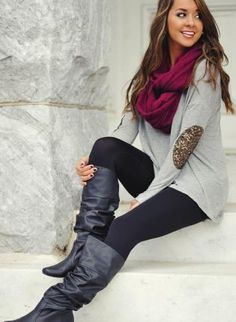 Sequined Elbow Patch Hi-Lo Tunic Gray,  Top, gray sequin elbow patch tunic, Urban / Streetwear