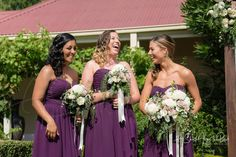 Three bridesmaid dresses altered by Jerrabomberra Clothing Alterations.