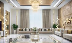 Men Majles in Modern style - KSA - Phuong Thao Do - Indian Living Rooms Decor Home Living Room, Elegant Living Room, Living Room Modern, Luxury Interior Design, Luxury Home Decor, Interior Exterior, Home Room Design, Interior Design Living Room, Living Room Designs