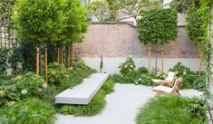 Fernando Martos | Garden I Small Gardens, Outdoor Gardens, Cat Garden, Backyard, Patio, Outdoor Furniture Sets, Outdoor Decor, Sun Lounger, Madrid