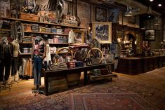 DOUBLE RL and the love for vintage motorcycles, Soho, NY, pinned by Ton van der Veer
