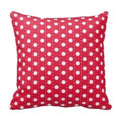 Light Red Polka Dots Throw Pillow Home Decor Style - pillows home decor diy cyo pillow design Red Decorative Pillows, Red Throw Pillows, Custom Pillows, Design3000, Polka Dot Wedding, Look Retro, Shops, Home Decor Styles, Pillow Design