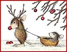 House illustration cute mice 51 Ideas for 2020 Noel Christmas, Christmas Pictures, Vintage Christmas, Christmas Crafts, Xmas, Illustration Noel, Christmas Illustration, Illustrations, House Mouse Stamps
