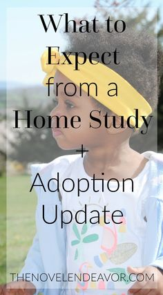 People are often intimidated by the mystery of an adoption Home Study. As someone going through it for the second time, here are some things you can expect. - The Novel Endeavor