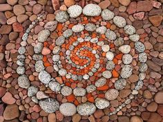 Stunning Circular Land Art Made of Rocks and Leaves,Dietmar Voorworld is an artist who takes rocks, pebbles and leaves he finds in nature and turns them into memorable pieces of land art. Description from pinterest.com. I searched for this on bing.com/images