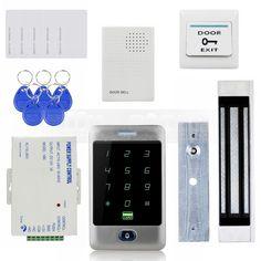 88.10$  Buy here - http://alixvz.shopchina.info/1/go.php?t=32631148234 - DIYSECUR 125KHz RFID Reader Password Keypad + 180kg 350lb Magnetic Lock + Door Bell Door Access Control Security System Kit  #buyonlinewebsite