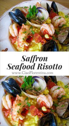 Seafood Risotto Recipe | CiaoFlorentina.com @CiaoFlorentina.com