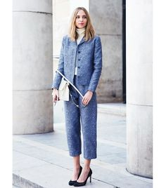 You can never go wrong with a smart suit. Just make sure it has a fashion-conscious silhouette, such as cropped pants.  Photo courtesy ofCollage Vintage