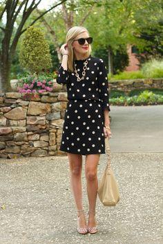 Life with Emily | a life + style blog : LBPD: Little Black Polkadot Dress