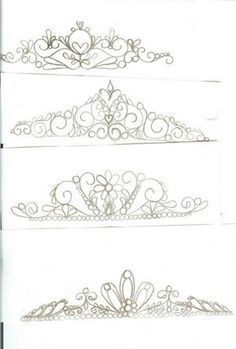 Tiara Patterns to use if you want to. By carrielynnfields on CakeCentral.com