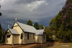 St Kevin's Catholic Church, constructed of weatherboards (probably jarrah) with corrugated iron roof. Classic Australian building style of the first half of the 1900s.