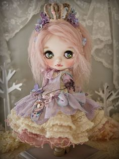 Custom blythe - spring fairy Doll Society@Tumblr