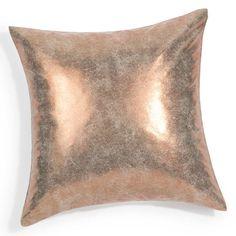 Coussin en su�dine dor� 40 x 40 cm GOLDUSED