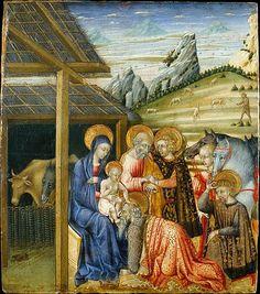 GIOVANNI DI PAOLO - Adorazione dei magi - 1460 circa - The Metropolitan Museum of Art, New York