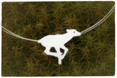 Reindeer calf on the loose! Silver pendant  www.metalmorfosis.fi