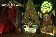 Nancy Drew: Labyrinth of Lies screenshot of the three judges in the underworld.  #NancyDrew #Greek #Mythology #LIE