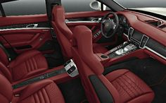 Porsche Panamera Red Interior