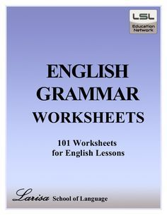 English Grammar Worksheets Free PDF ebook Download from Larisa School…