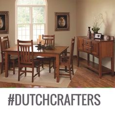 #shaker style #beauty, quality #handcrafted and #fullycustomizable ... Just what your #diningroom wants/needs/will ❤️ forever & ever ... Shop this #diningroomtable at the #linkinbio, then sit back and listen to the #compliments roll in.  #dutchcrafters #a