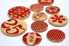 Cheer Wooden Buttons by Cosmo Cricket.