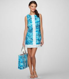 Lilly Pulitzer dark and stormy 'worth' shift! can't wait to get this beauty in my hot little hands... come on, Rue La La!