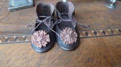 Leder Puppenschuhe für alte oder moderne Puppe / Leather Doll Shoes