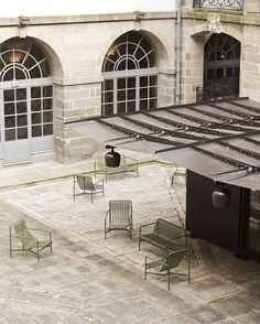 The Kiosque with Palissade collection at the Parlement de Bretagne, www.bouroullec.com/Rennes #BouroullecRennes #parlementdebretagne