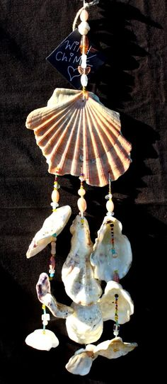Handmade Sea Shell Windchime Mobile Hippy Boho by Samsimillia, £15.00