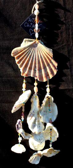 Handmade Sea Shell Windchime Mobile Hippy Boho by Samsimillia, £15.00