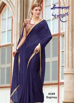 Explore this Amazing Navy Blue Brasso Saree with Multicolor Blouse along with Sequence Lace, Golden Zari Border from Laxmipati.com. #Catalogue #Simran Price - Rs. 2500.00 Visit for more designs@ www.laxmipati.com #Sarees #‎ReadyToWear ‪#‎OccasionWear ‪#‎Ethnicwear ‪#‎FestivalSarees ‪#‎Fashion ‪#‎Fashionista ‪#‎Couture ‪#‎LaxmipatiSaree ‪#‎Autumn ‪#‎Winter ‪#‎Women ‪#‎Her ‪#‎She ‪#‎Mystery ‪#‎Lingerie ‪#‎Black ‪#‎Lifestyle ‪#‎Life ‪#‎ColoursOfIndia ‪#‎HappyBride ‪#‎WhoYouAre ‪#‎WomanPower…