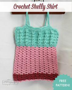 Crochet Shell Shirt - Free Pattern for Little Girls