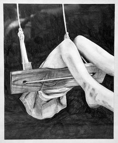 Pencil Drawing Swing by Sandy Pell, via Behance