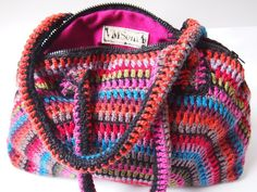 Crocheted bag, pic tutorial