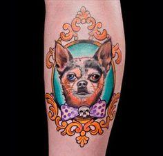 Best Ink's Jon Mesa's tattoo of Nugget.