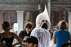 Cafe du Monde Street Band in the Rain - New Orleans - ART OF THE MACHINE PHOTOGRAPHY