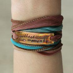 Collect Moments Wrap Bracelet Silk Wrap Bracelet by ClairAshley