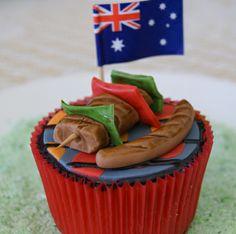 Fondant Cupcake Designs - anyone up for a bar-b? Pavlova, Amazing Food Creations, Australia Day Celebrations, Aus Day, Planet Cake, Happy Australia Day, Aussie Food, Anzac Day, Beautiful Cupcakes