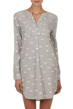 Country Road - Sleepwear for Women Online - Fawn Print Nightshirt Sleepwear & Loungewear, Sleepwear Women, Nightwear, Night Outfits, Cool Outfits, Outfit Night, Xmas Pjs, Maternity Activewear, Pijamas Women