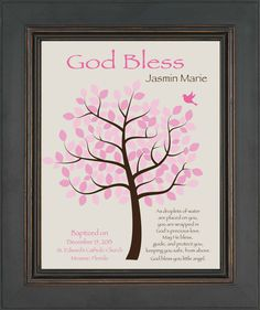 BAPTISM GIFT Christening Gift  Personalized by KreationsbyMarilyn, $15.00